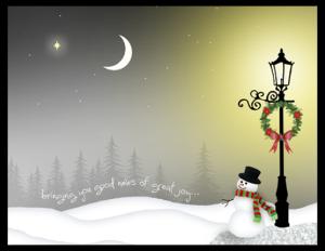 CXM 30 - lamppost snowman