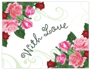BR 11d - rose watermark 'with love'