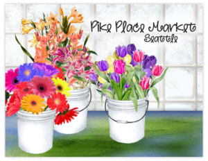 SP 14b - pike place flower buckets